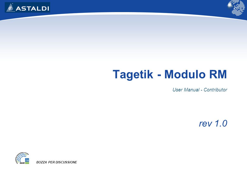 Tagetik - Modulo RM User Manual - Contributor rev 1.0