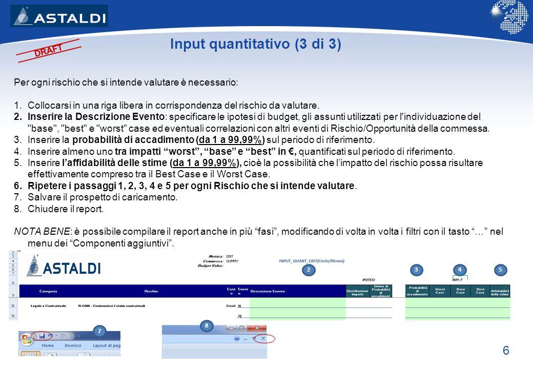Input quantitativo (3 di 3)