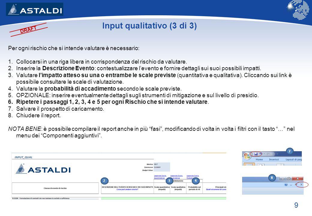 Input qualitativo (3 di 3)