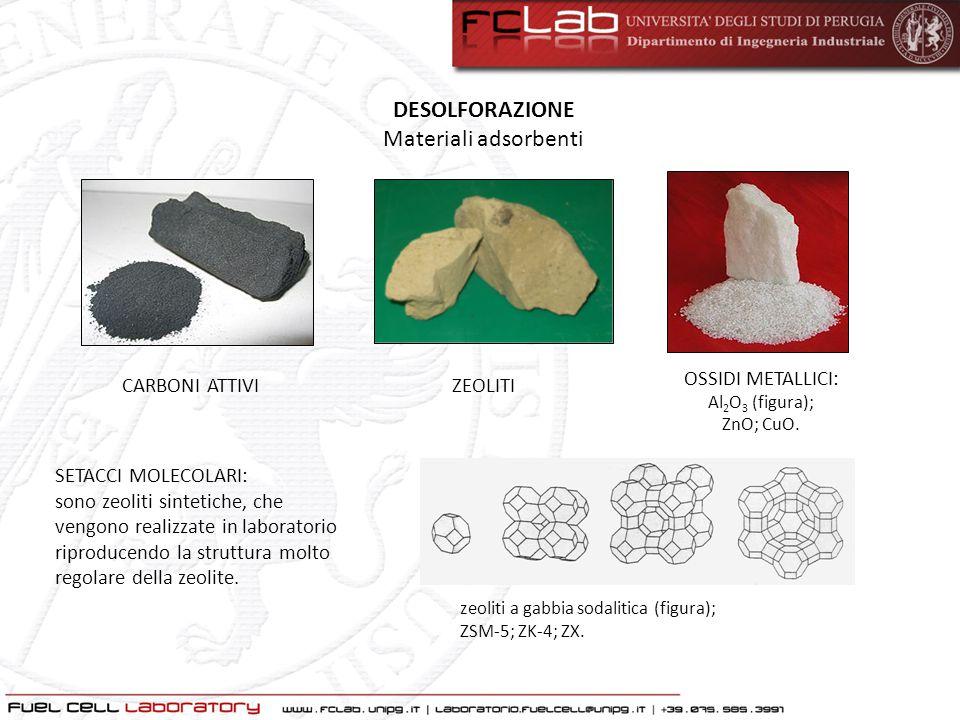 DESOLFORAZIONE Materiali adsorbenti OSSIDI METALLICI: CARBONI ATTIVI