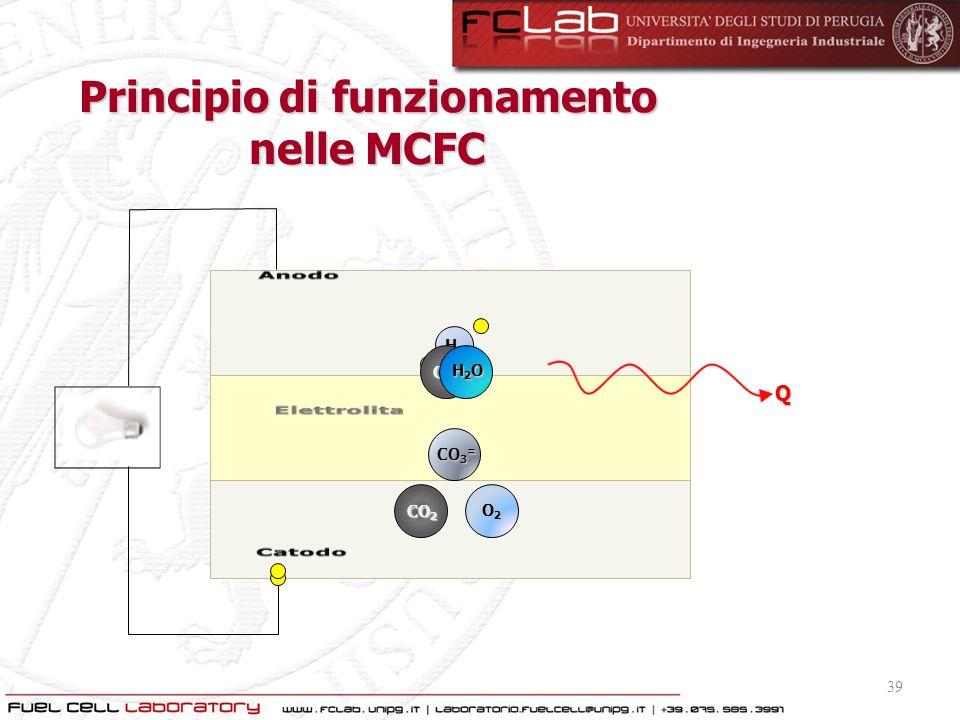 Principio di funzionamento nelle MCFC