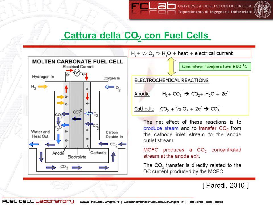 Cattura della CO2 con Fuel Cells