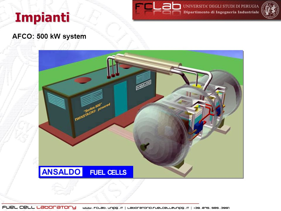 Impianti AFCO: 500 kW system