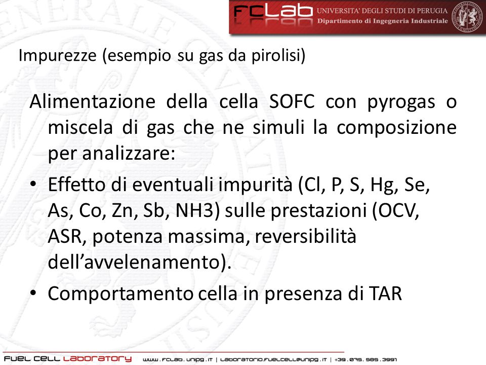 Comportamento cella in presenza di TAR