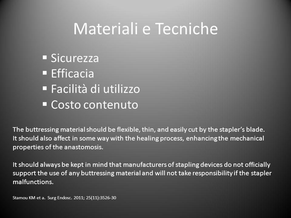 Materiali e Tecniche Sicurezza Efficacia Facilità di utilizzo