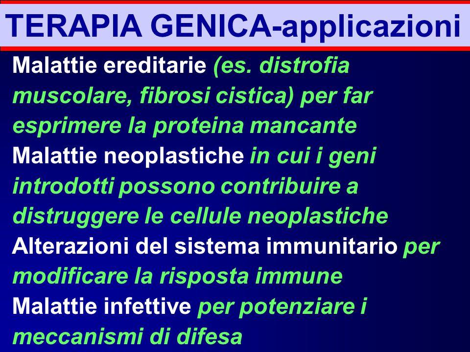 TERAPIA GENICA-applicazioni