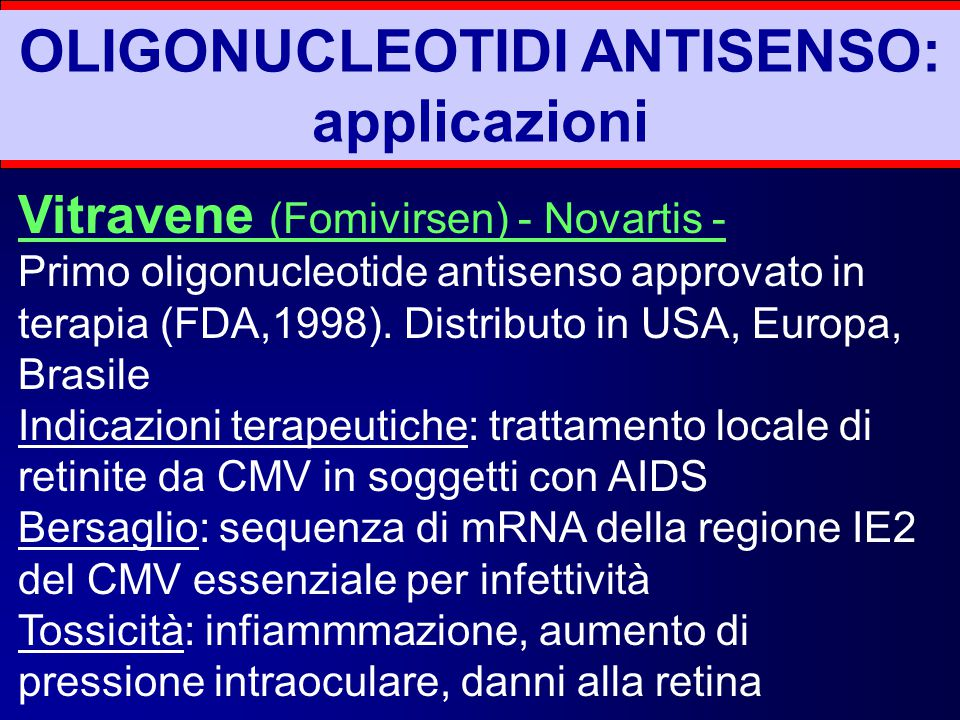 OLIGONUCLEOTIDI ANTISENSO: