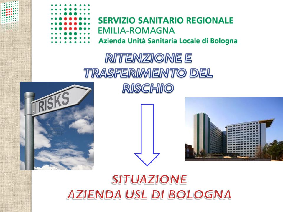 RITENZIONE E TRASFERIMENTO DEL RISCHIO