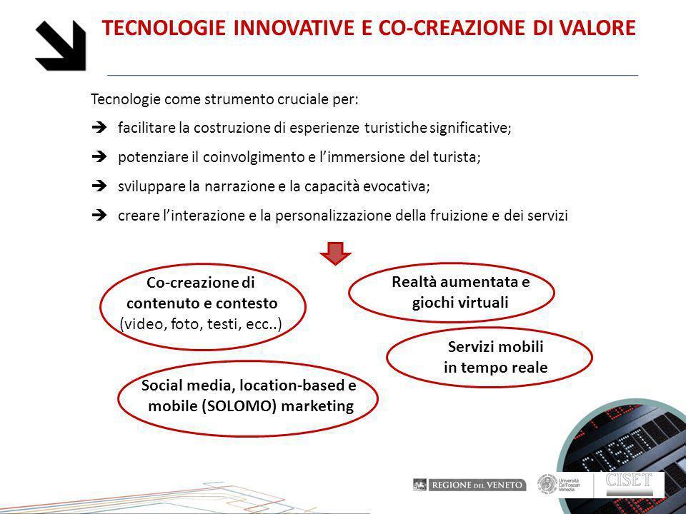 TECNOLOGIE INNOVATIVE E CO-CREAZIONE DI VALORE