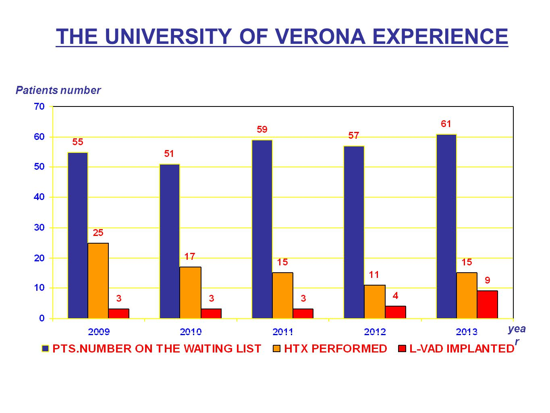 THE UNIVERSITY OF VERONA EXPERIENCE