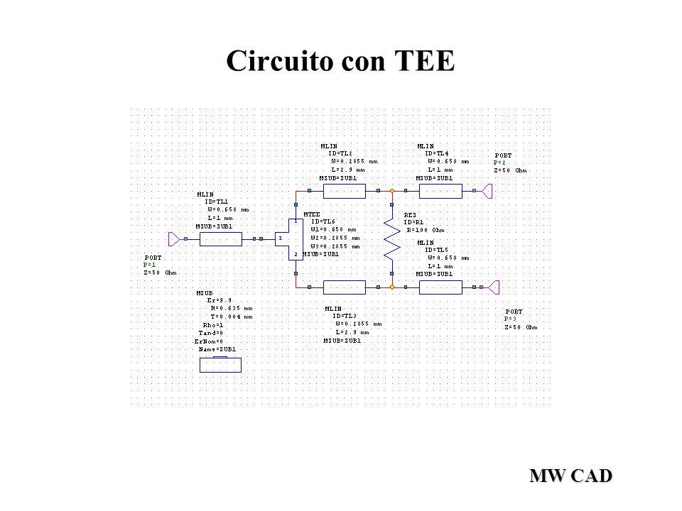 Circuito con TEE MW CAD