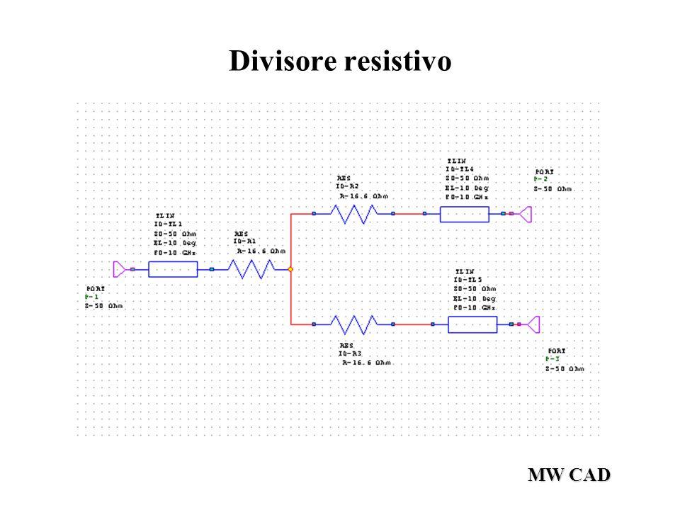 Divisore resistivo MW CAD