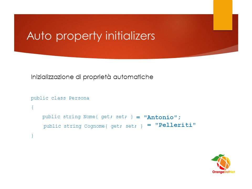 Auto property initializers