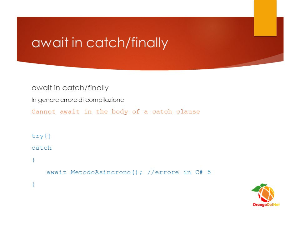await in catch/finally