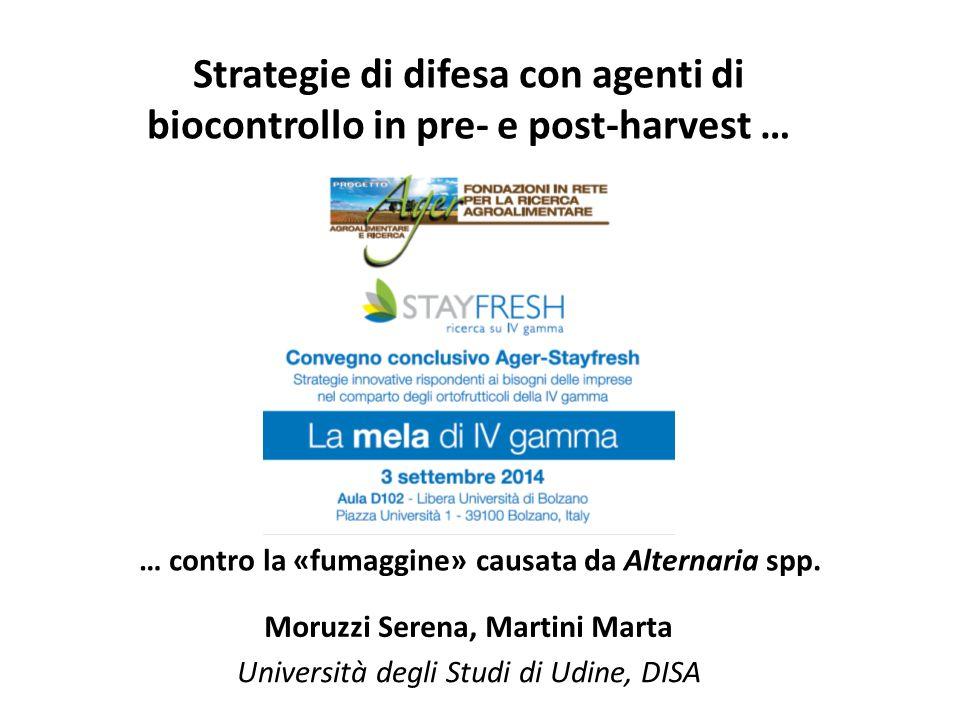Strategie di difesa con agenti di biocontrollo in pre- e post-harvest …
