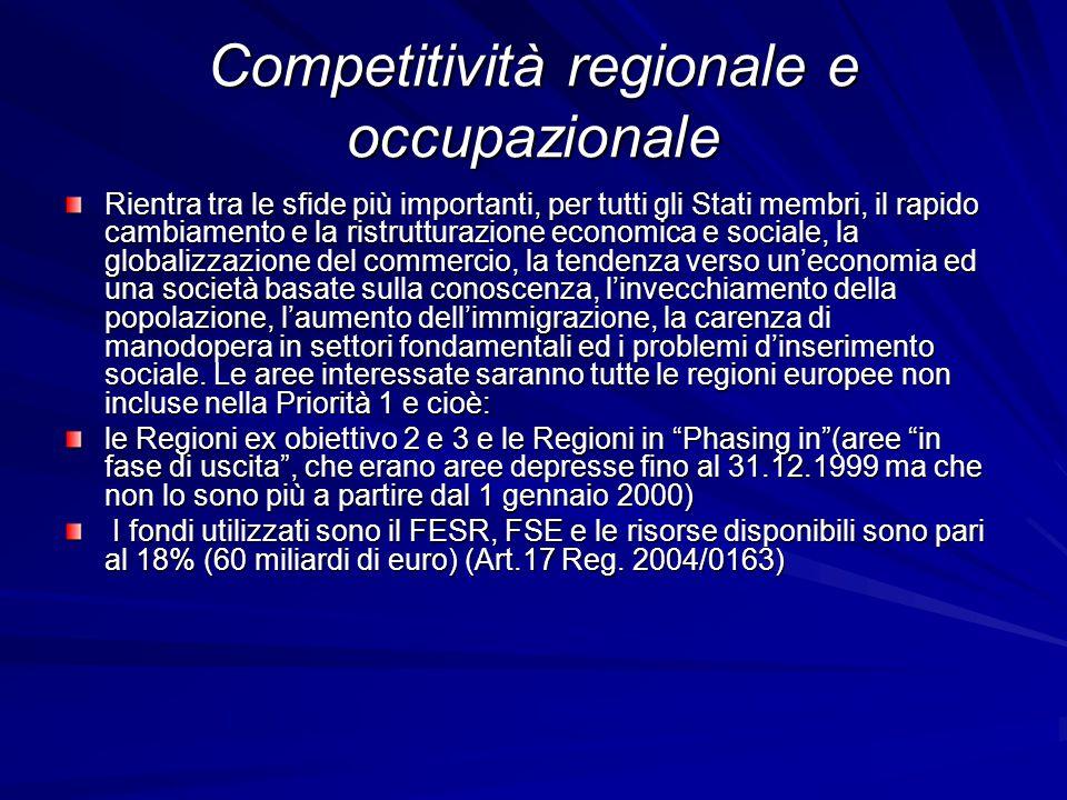 Competitività regionale e occupazionale
