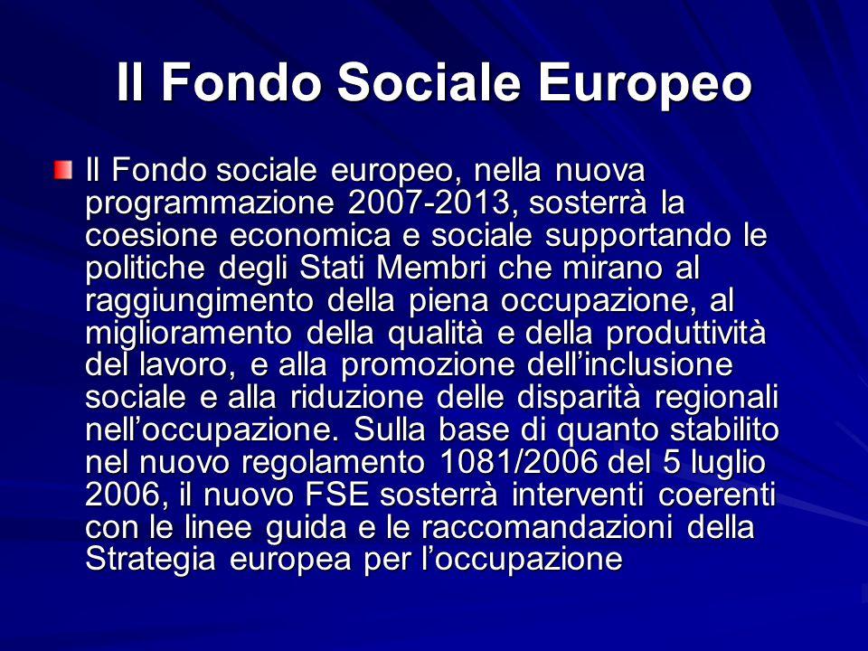 Il Fondo Sociale Europeo