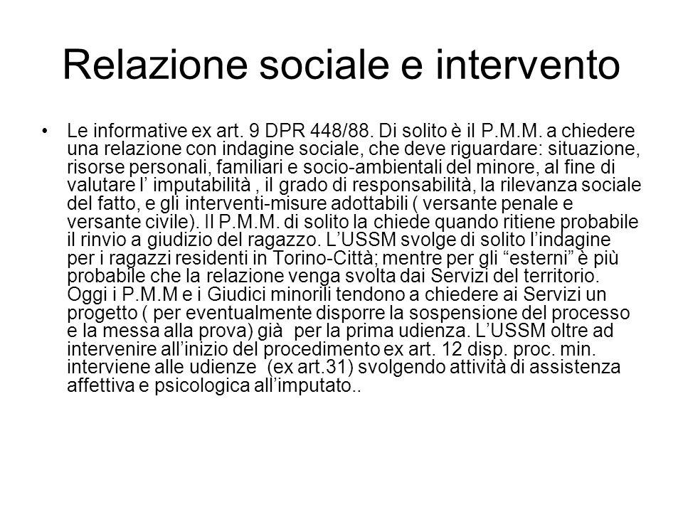 Relazione sociale e intervento