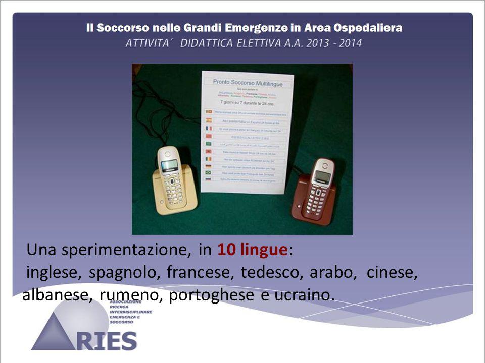 Una sperimentazione, in 10 lingue: