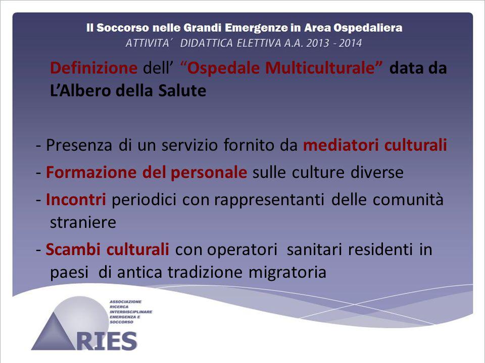 Definizione dell' Ospedale Multiculturale data da L'Albero della Salute
