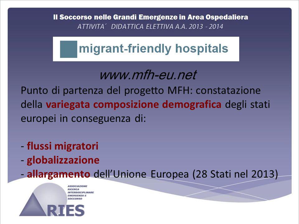 www.mfh-eu.net Punto di partenza del progetto MFH: constatazione della variegata composizione demografica degli stati europei in conseguenza di: