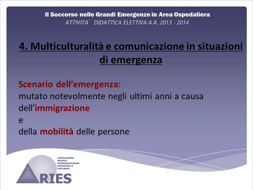 4. Multiculturalità e comunicazione in situazioni di emergenza