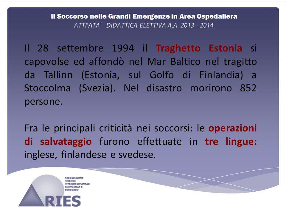 Il 28 settembre 1994 il Traghetto Estonia si capovolse ed affondò nel Mar Baltico nel tragitto da Tallinn (Estonia, sul Golfo di Finlandia) a Stoccolma (Svezia). Nel disastro morirono 852 persone.