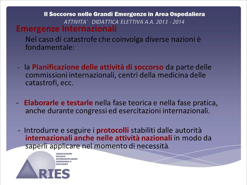 Emergenze Internazionali