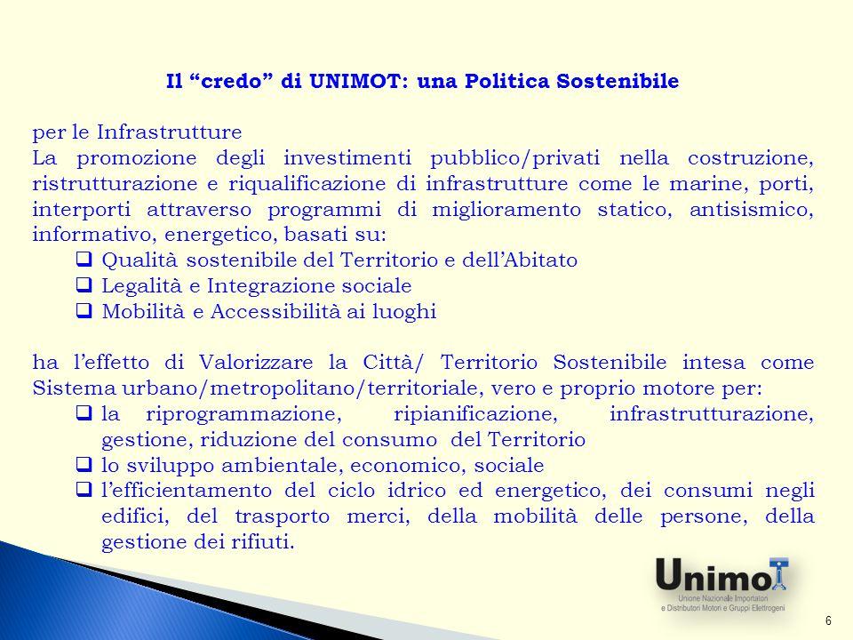 Il credo di UNIMOT: una Politica Sostenibile
