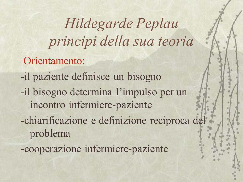 Hildegarde Peplau principi della sua teoria