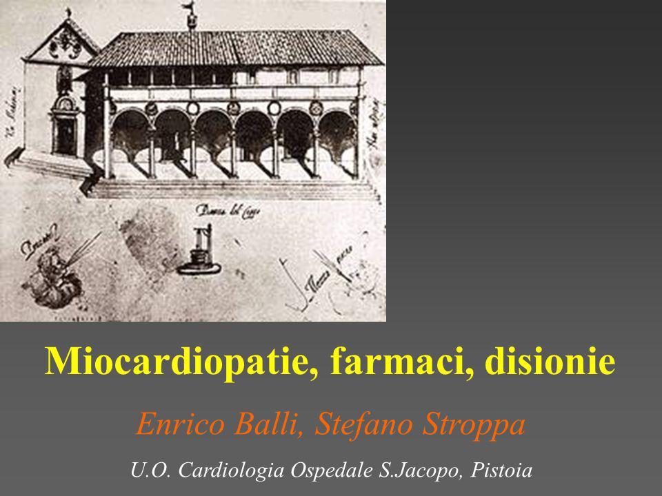 Miocardiopatie, farmaci, disionie