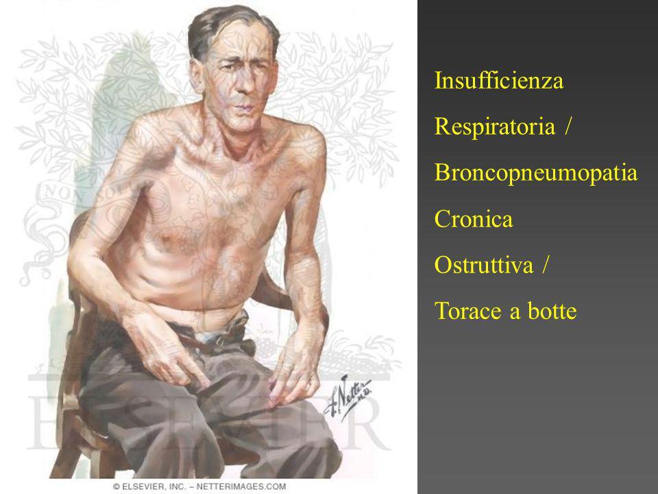 Insufficienza Respiratoria / Broncopneumopatia Cronica Ostruttiva / Torace a botte