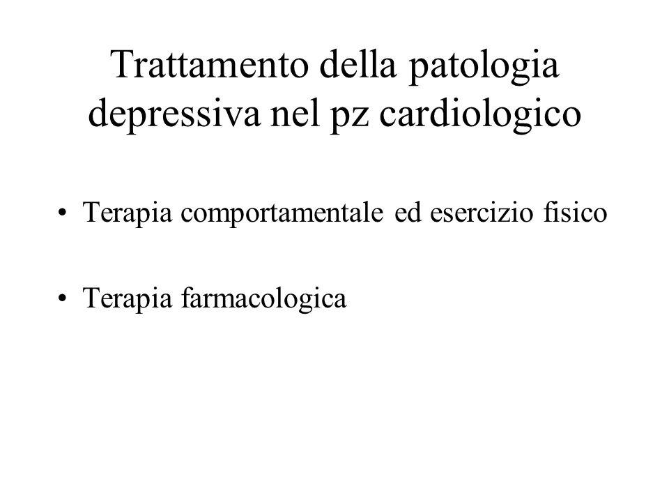 Trattamento della patologia depressiva nel pz cardiologico