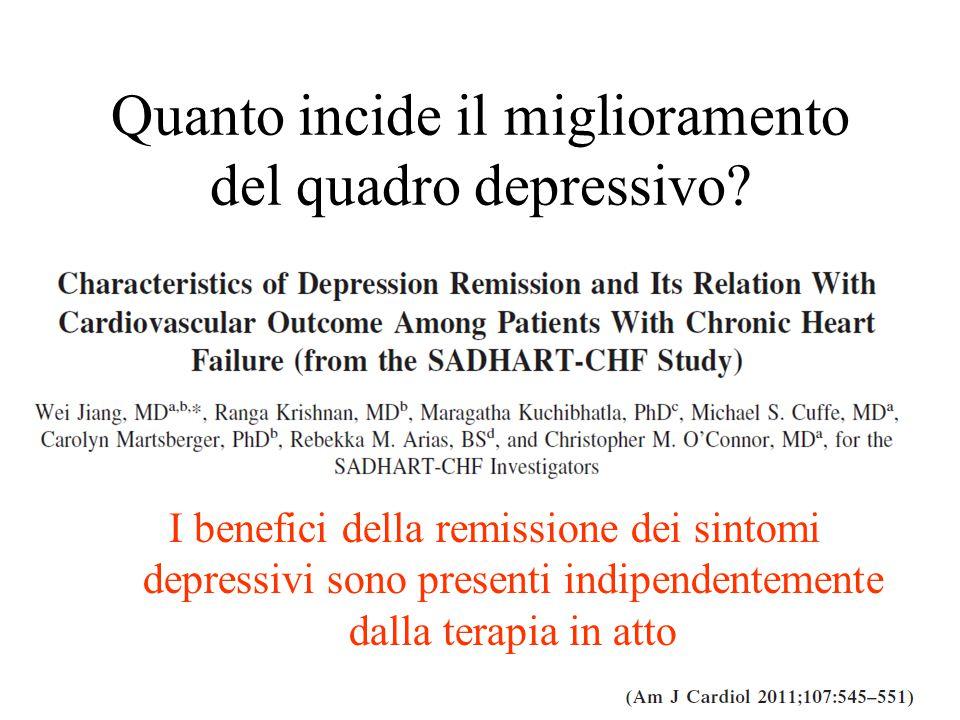 Quanto incide il miglioramento del quadro depressivo