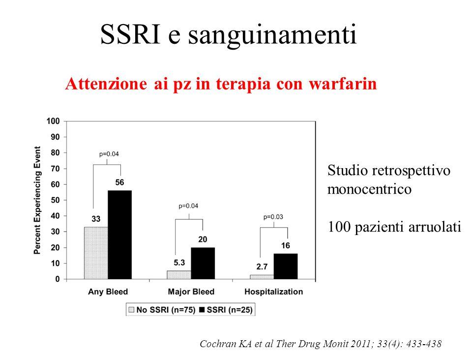 Attenzione ai pz in terapia con warfarin