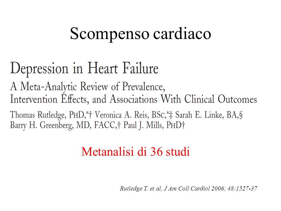 Scompenso cardiaco Metanalisi di 36 studi