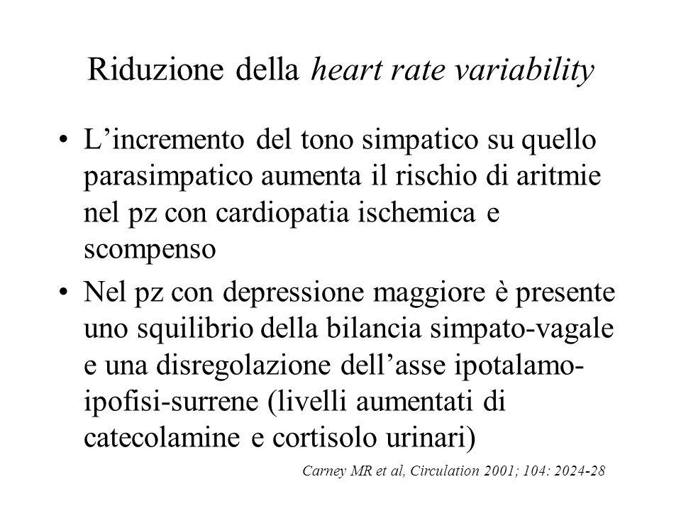 Riduzione della heart rate variability