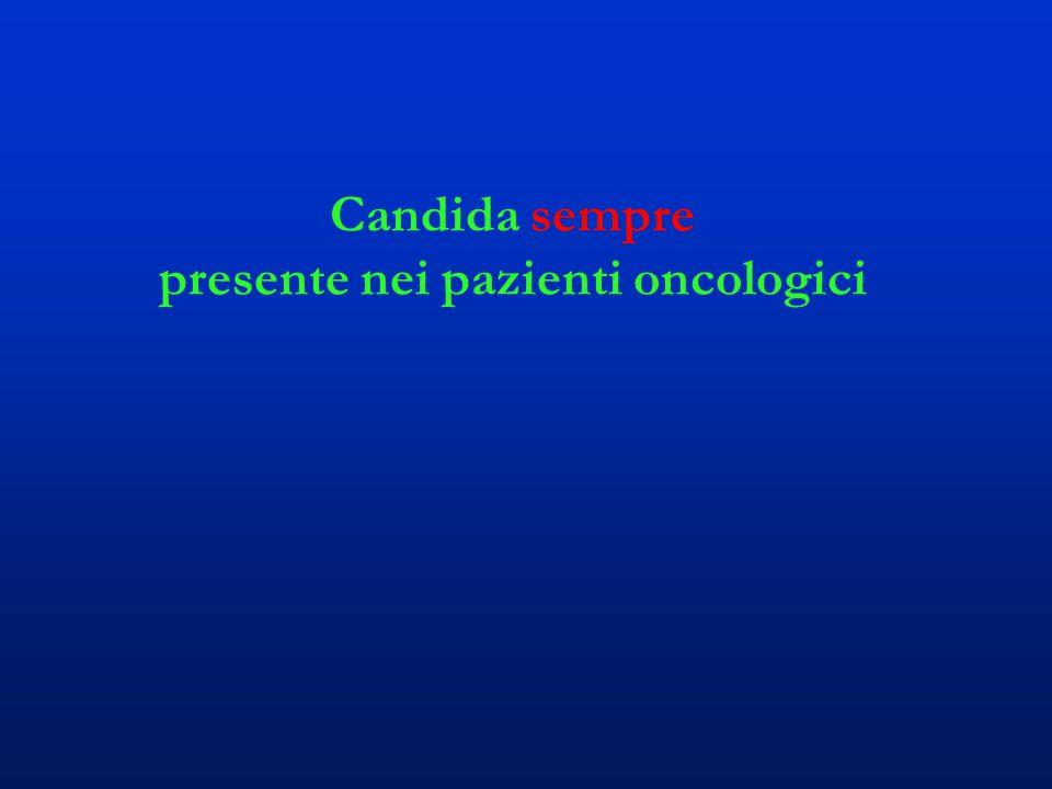 Candida sempre presente nei pazienti oncologici