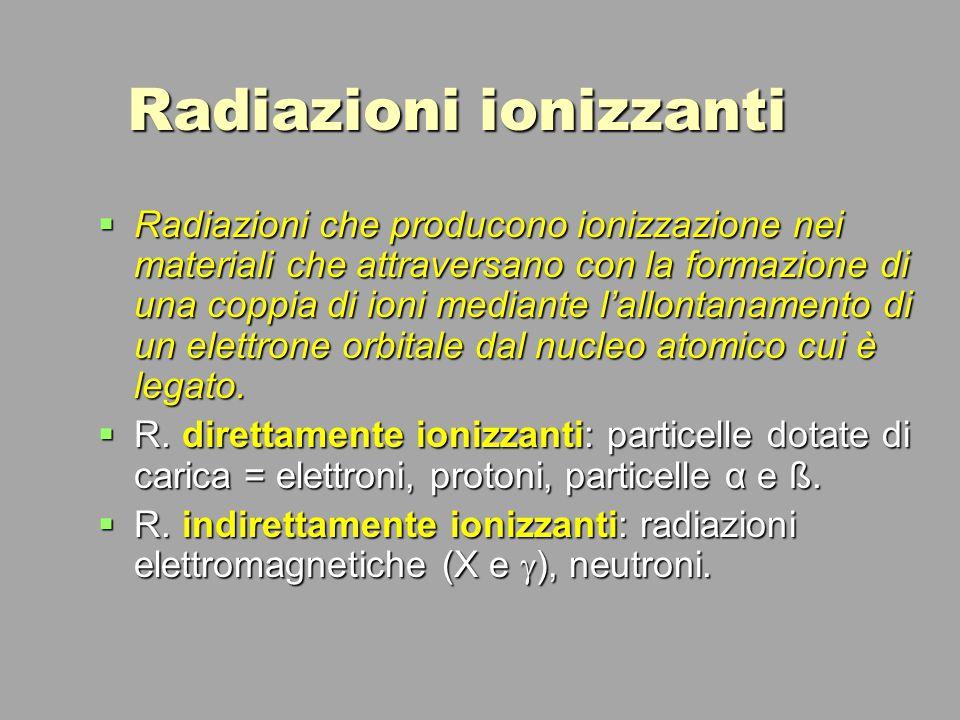 Radiazioni ionizzanti