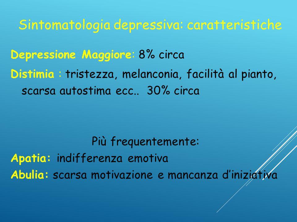 Sintomatologia depressiva: caratteristiche