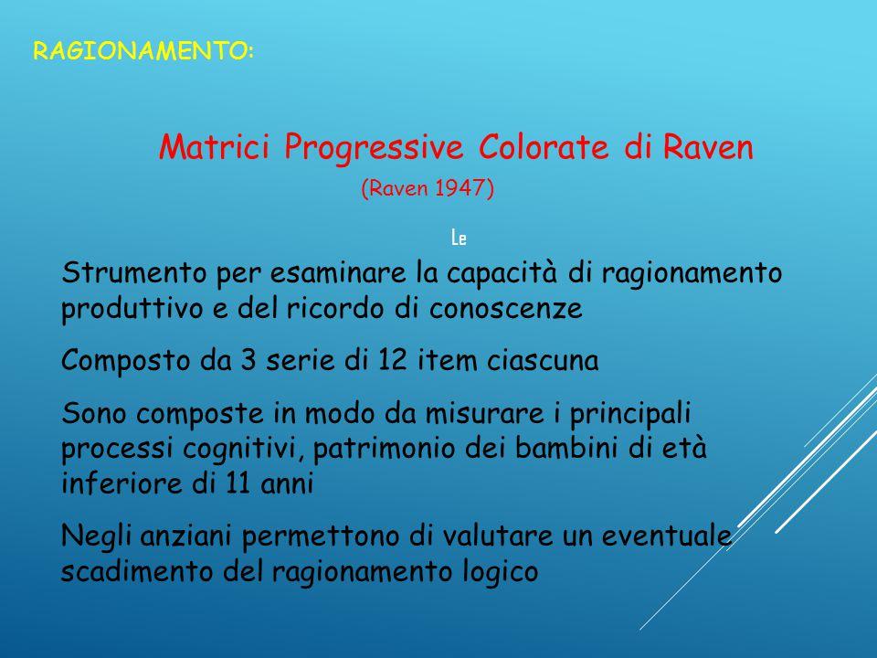 Matrici Progressive Colorate di Raven