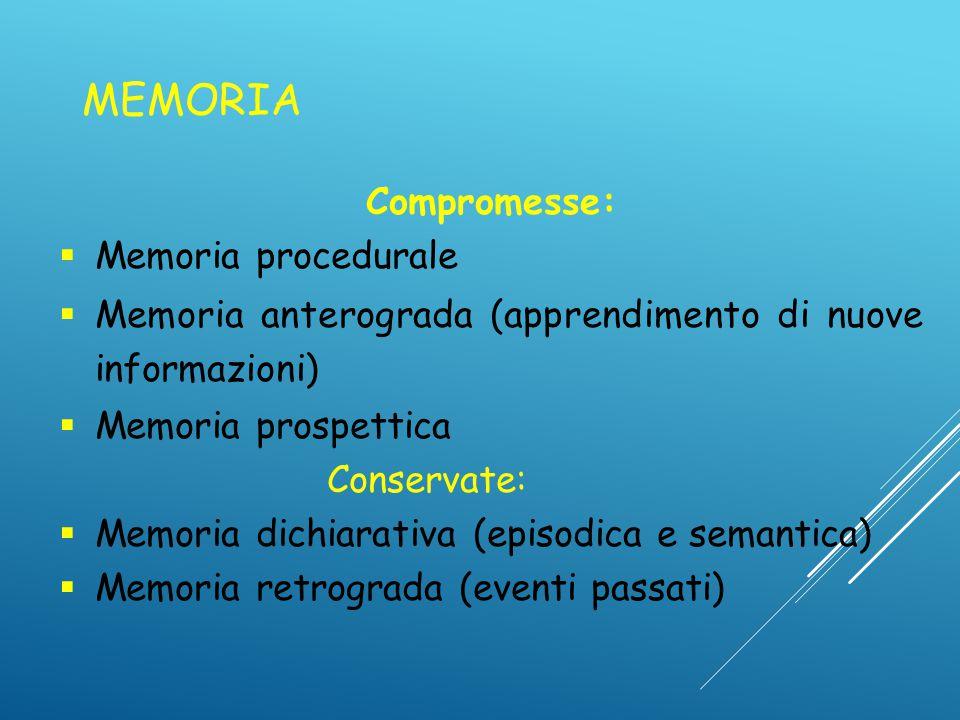MEMORIA Compromesse: Memoria procedurale