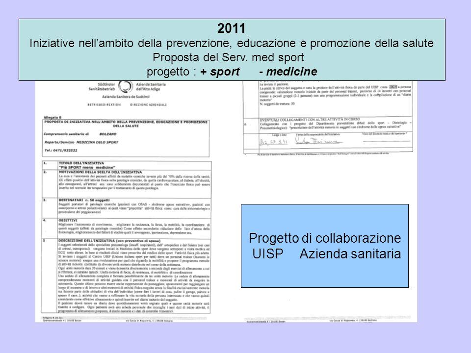 Progetto di collaborazione UISP Azienda sanitaria