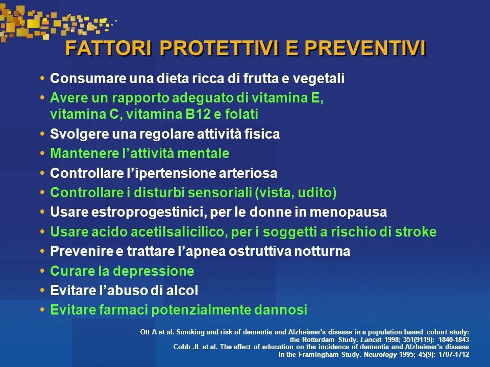 FATTORI PROTETTIVI E PREVENTIVI