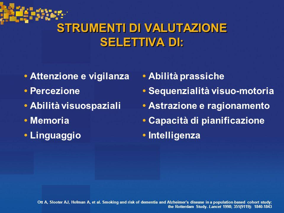 STRUMENTI DI VALUTAZIONE SELETTIVA DI: