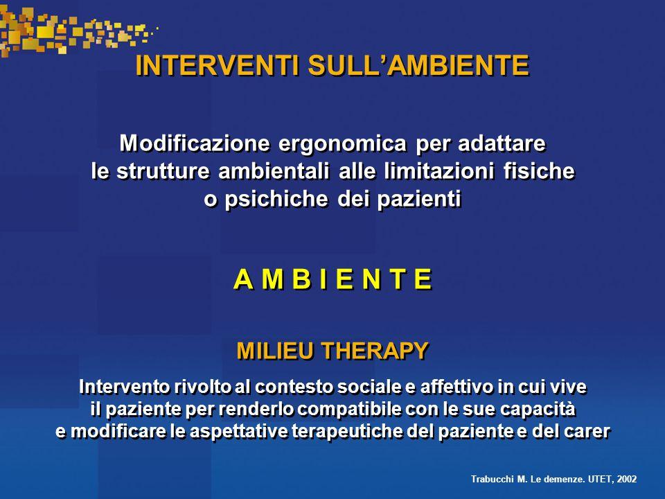 INTERVENTI SULL'AMBIENTE