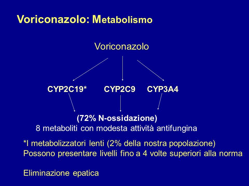 Voriconazolo: Metabolismo