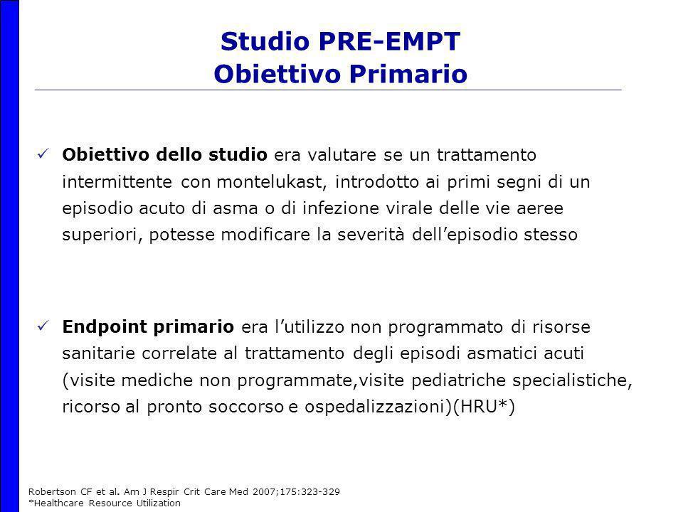 Studio PRE-EMPT Obiettivo Primario