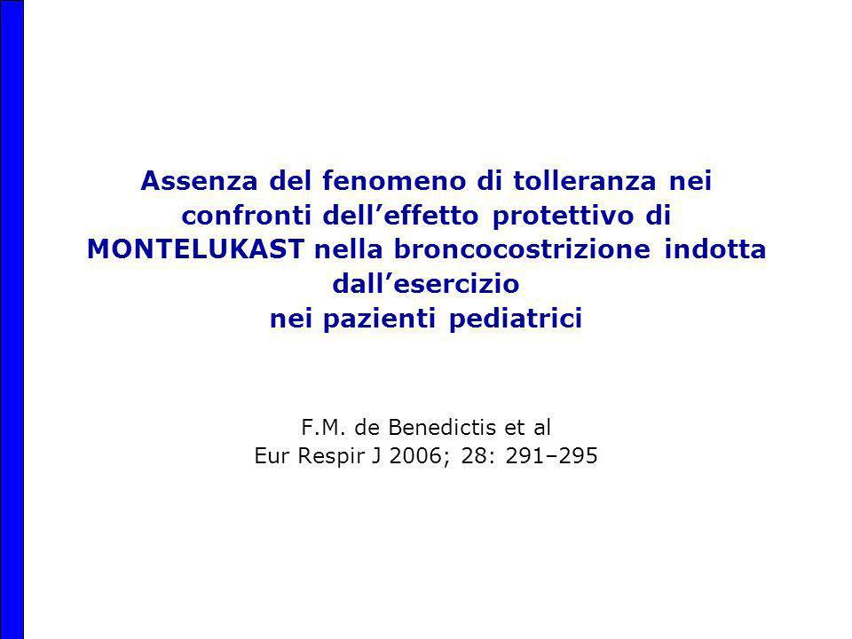 F.M. de Benedictis et al Eur Respir J 2006; 28: 291–295