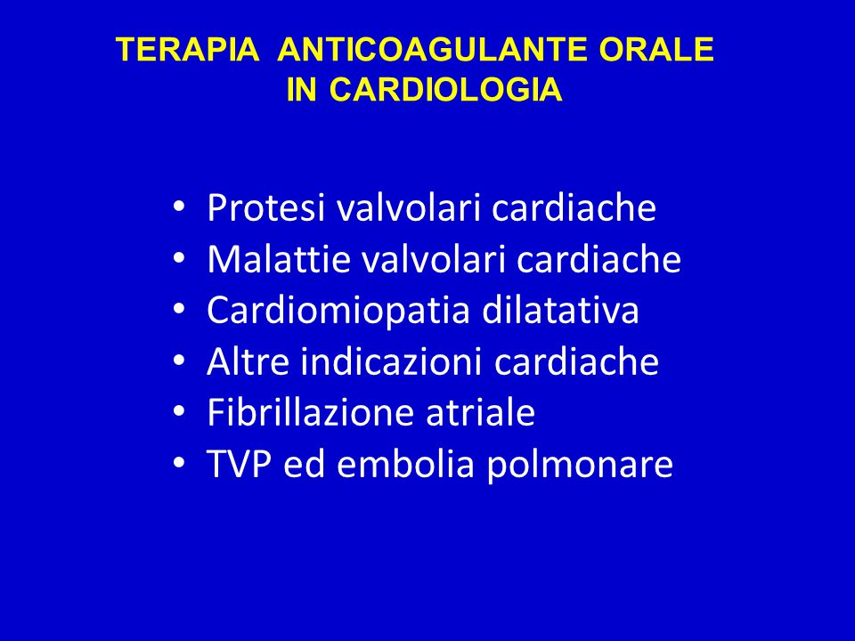 TERAPIA ANTICOAGULANTE ORALE
